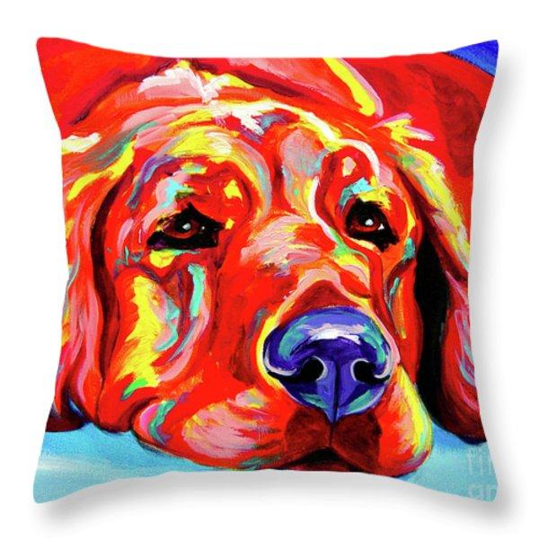 Golden Retriever - Ranger Throw Pillow by Alicia VanNoy Call