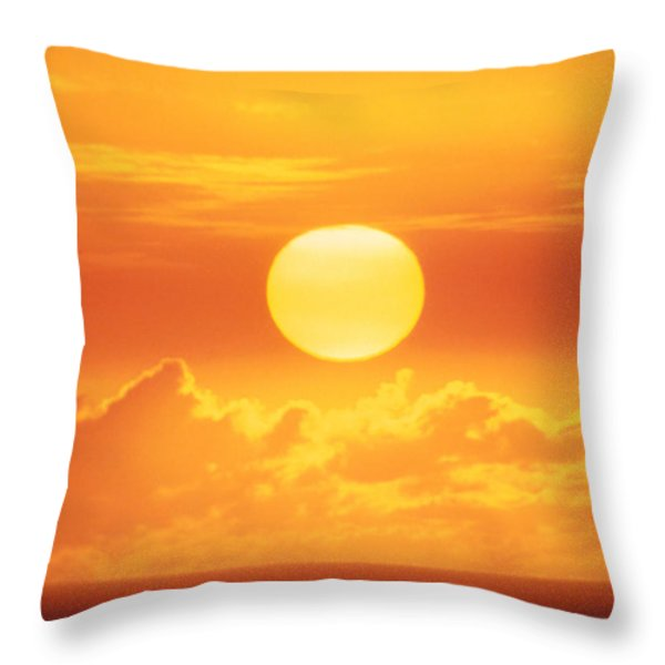 Golden Sunball Throw Pillow by Bob Abraham - Printscapes
