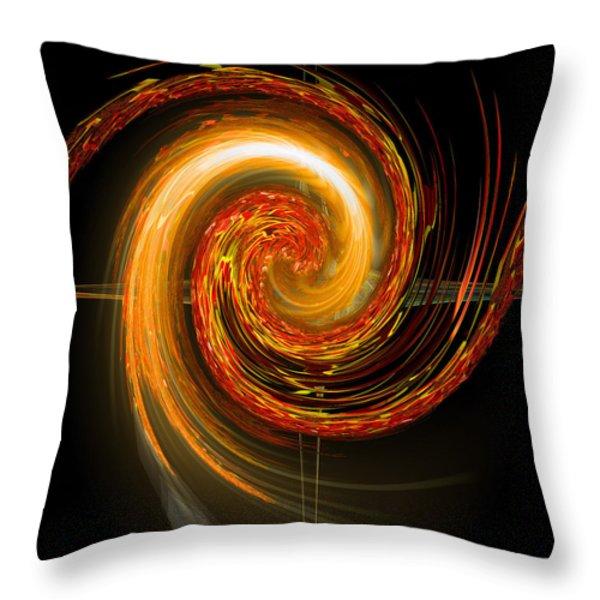 Golden Swirl Throw Pillow by Michael Durst