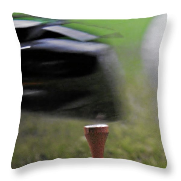 Golf Sport or Game Throw Pillow by Christine Till
