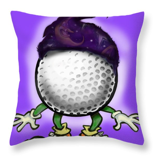 Golf Wizard Throw Pillow by Kevin Middleton