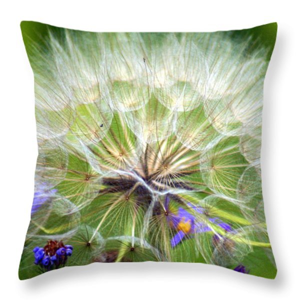 Gone To Seed Throw Pillow by Marty Koch
