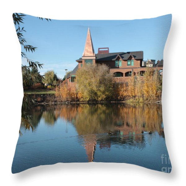 Gonzaga Art Building Throw Pillow by Carol Groenen