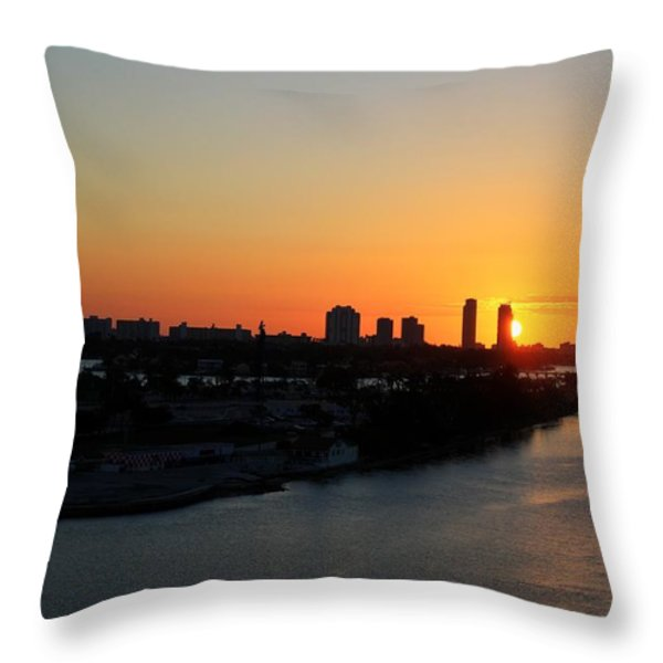 Good Morning Miami Throw Pillow by Shelley Neff