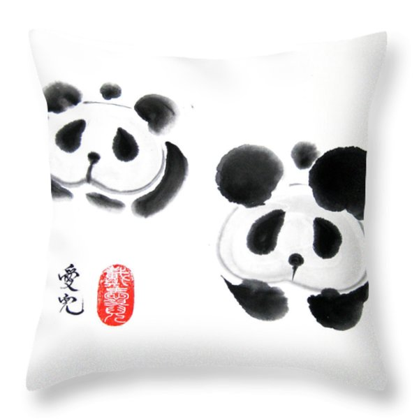Good Things Come In Pairs Throw Pillow by Oiyee  At Oystudio