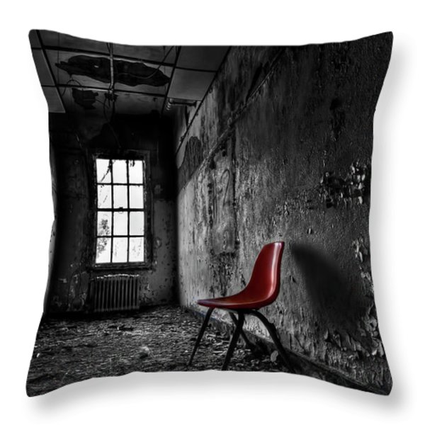 Goodbye Inocence Throw Pillow by Evelina Kremsdorf