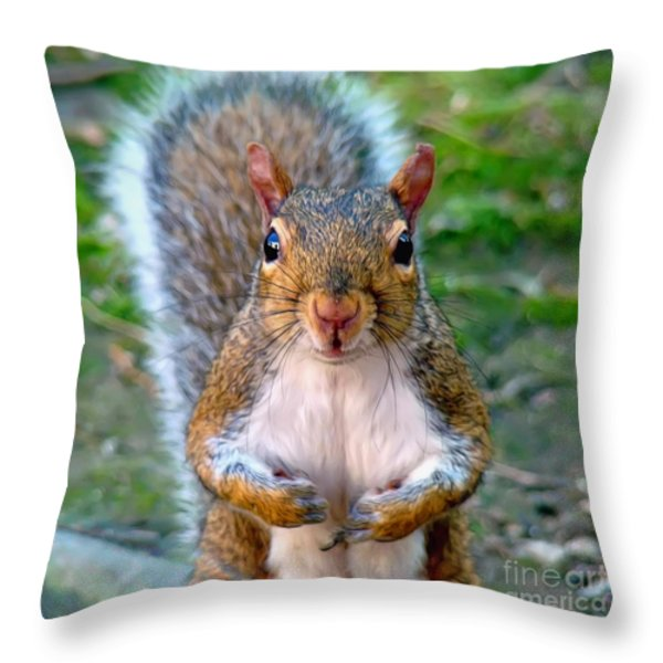 Got Any Peanuts Throw Pillow by Sue Melvin