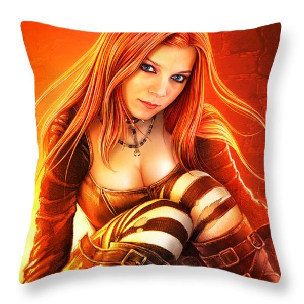Gothic Nights Throw Pillow by Shannon Maer