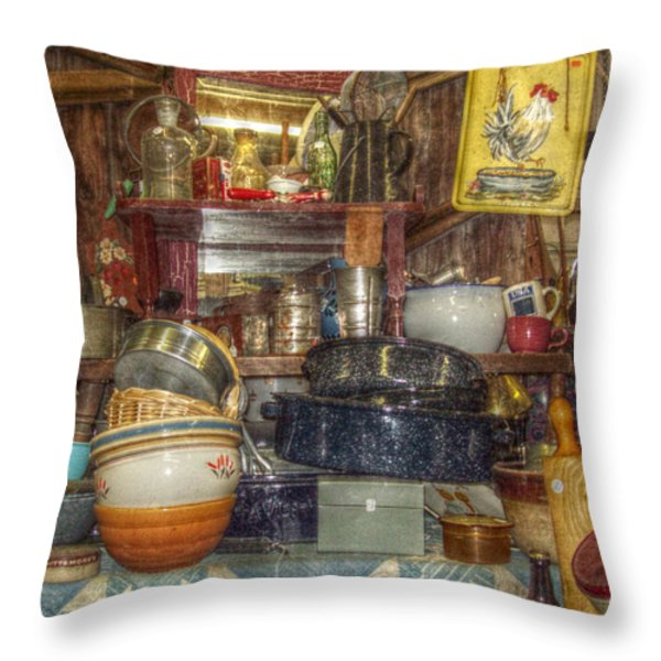 Grandmas Kitchen Throw Pillow by Cindy Nunn