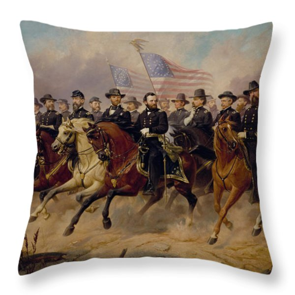 Grant And His Generals Throw Pillow by War Is Hell Store