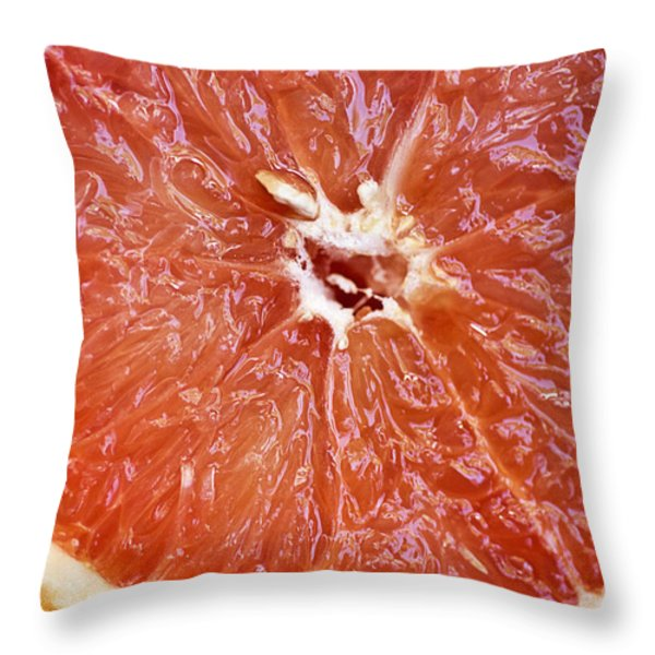 Grapefruit Half Throw Pillow by Ray Laskowitz - Printscapes
