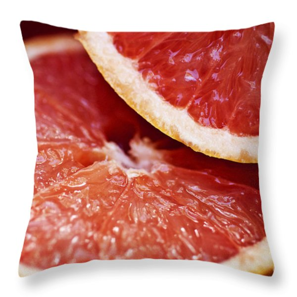 Grapefruit Halves Throw Pillow by Ray Laskowitz - Printscapes