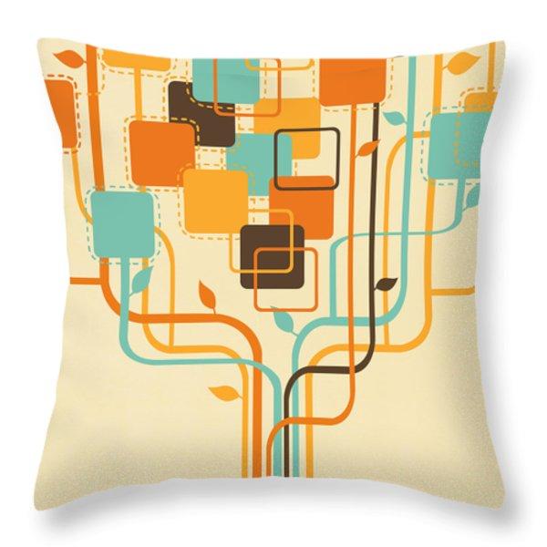 graphic tree Throw Pillow by Setsiri Silapasuwanchai