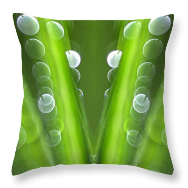 Grass Throw Pillow by Silke Magino