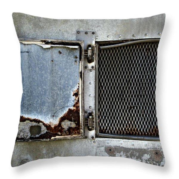 Grated Door Throw Pillow by Murray Bloom