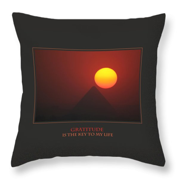 Gratitude Is The Key To My Life Throw Pillow by Donna Corless