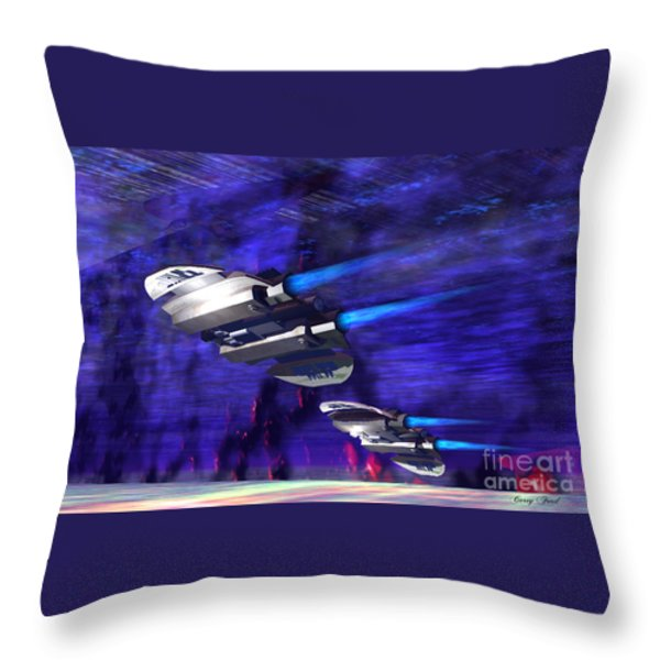 Gravitational Forces Throw Pillow by Corey Ford