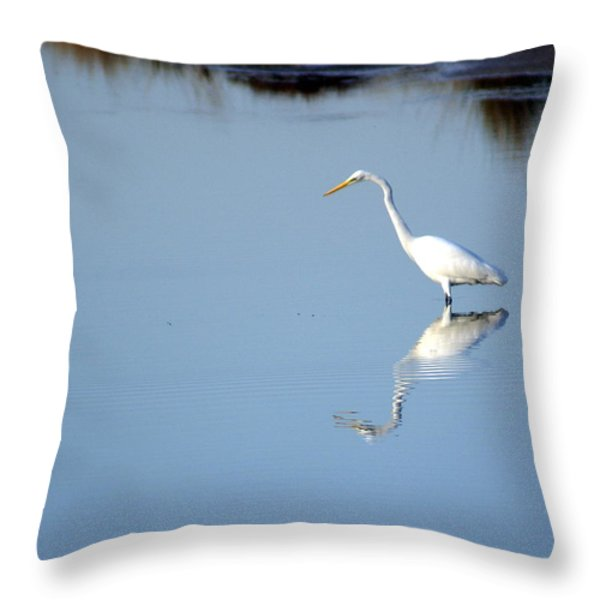 Great Blue 2 Throw Pillow by Marty Koch