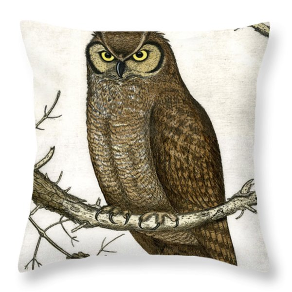 Great Horned Owl Throw Pillow by Charles Harden