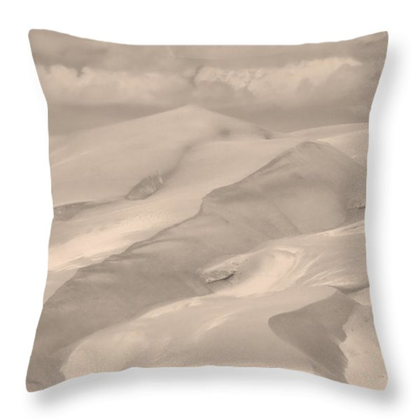 Great Sand Dunes  - In Sepia Throw Pillow by James BO  Insogna