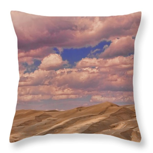 Great Sand Dunes And Great Clouds Throw Pillow by James BO  Insogna