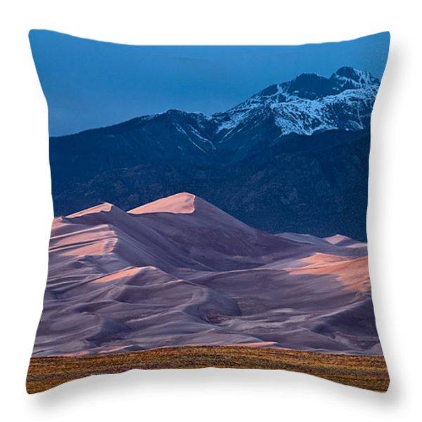 Great Sand Dunes  Colorado Throw Pillow by Steve Gadomski
