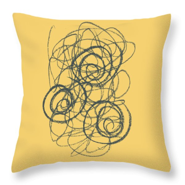 Green And Gold 2 Throw Pillow by Julie Niemela