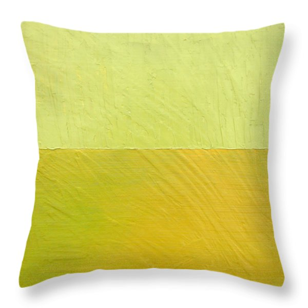 Green And Greenish Throw Pillow by Michelle Calkins