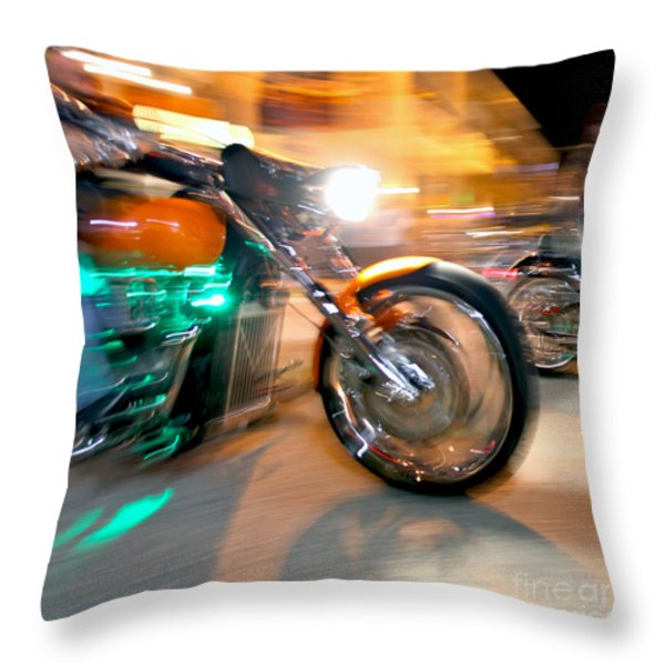 Green Machine Throw Pillow by Glennis Siverson