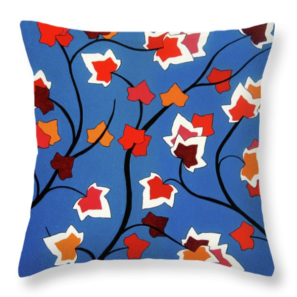 Green Shoots Of Recovery Throw Pillow by Oliver Johnston