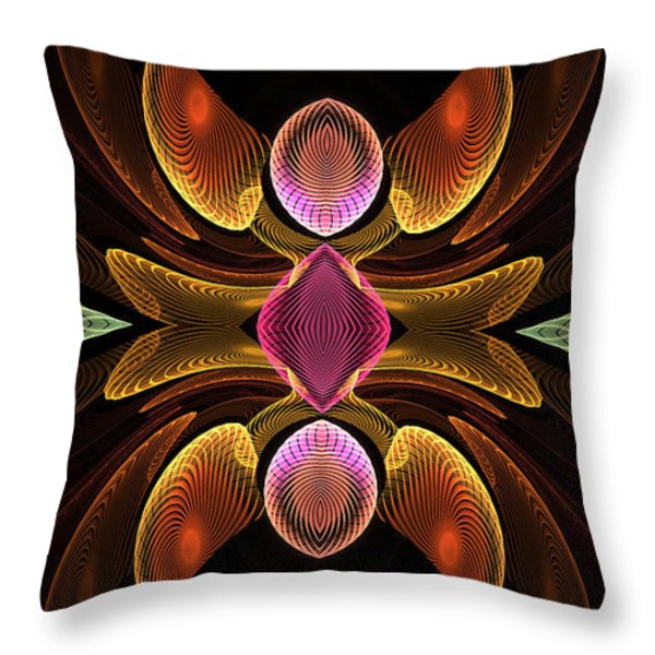 Green Teardrops Throw Pillow by Deborah Benoit