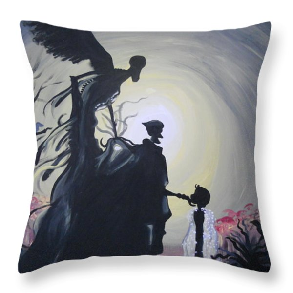 Greeted Like an Old Friend Throw Pillow by Lisa Leeman