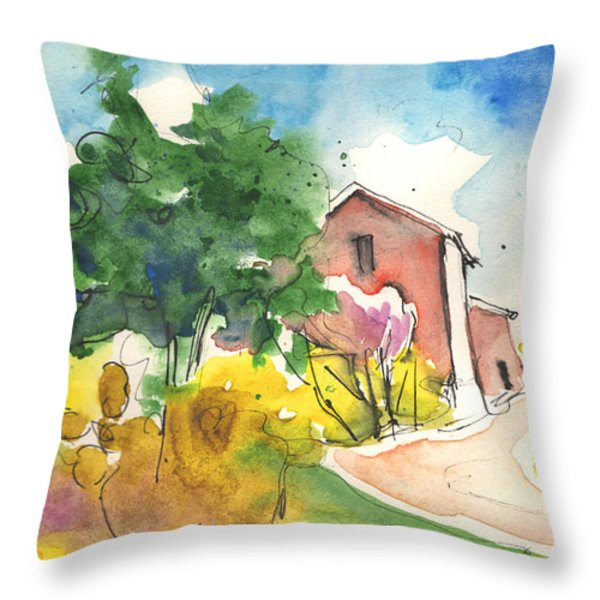 Greve in Chianti in Italy 01 Throw Pillow by Miki De Goodaboom