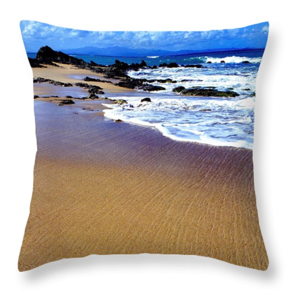 Gringo Beach Vieques Puerto Rico Throw Pillow by Thomas R Fletcher