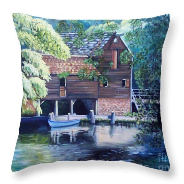 Grist Mill Philipsburg Ny Throw Pillow by Marlene Book