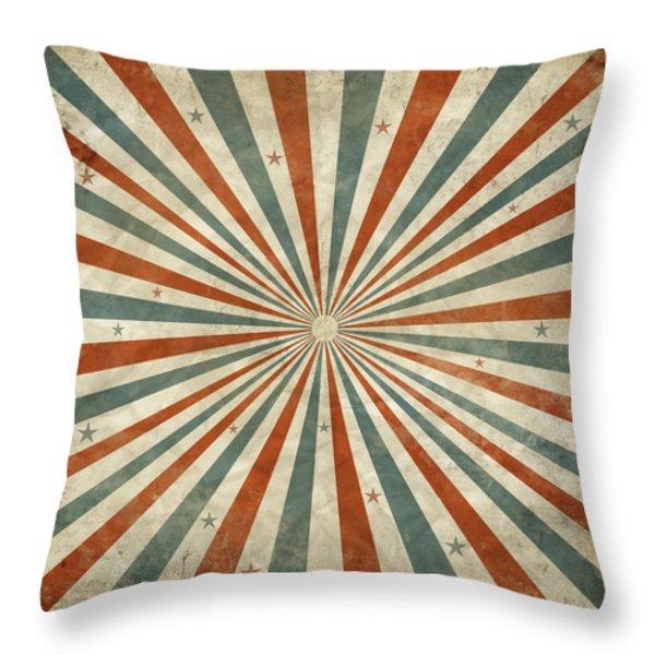grunge ray retro design Throw Pillow by Setsiri Silapasuwanchai