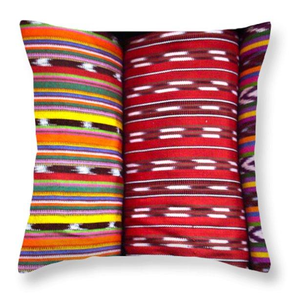 Guatemalan Textiles 2 Throw Pillow by Douglas Barnett