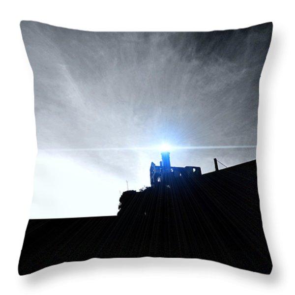Guiding Light-Alcatraz Throw Pillow by Douglas Barnard