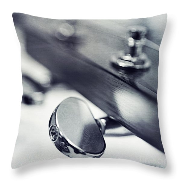 guitar I Throw Pillow by Priska Wettstein