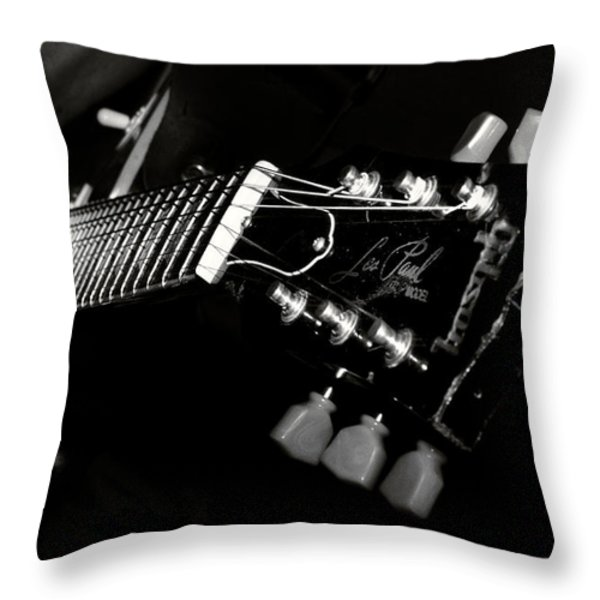 guitarist Throw Pillow by Stylianos Kleanthous