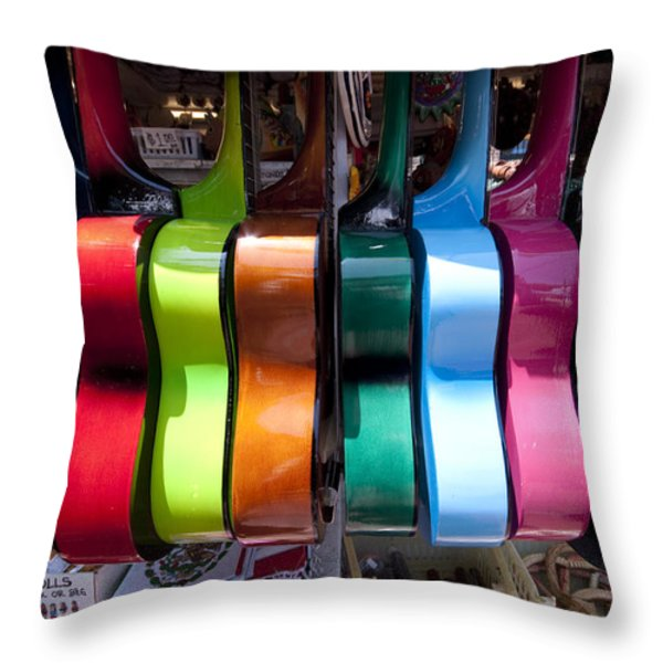 Guitars Throw Pillow by Mike Herdering