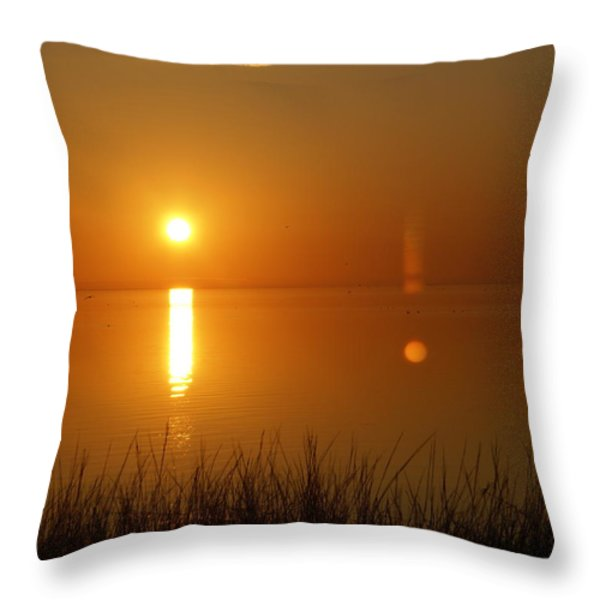 Gulf Coast Sunset Throw Pillow by Marty Koch