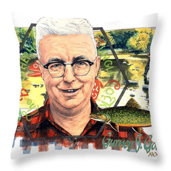 Gurney J. Godrey Throw Pillow by John D Benson