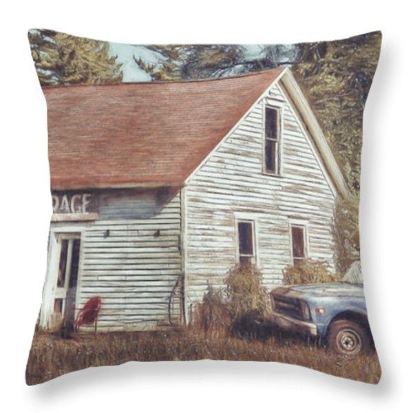 Gus Klenke Garage Throw Pillow by Scott Norris