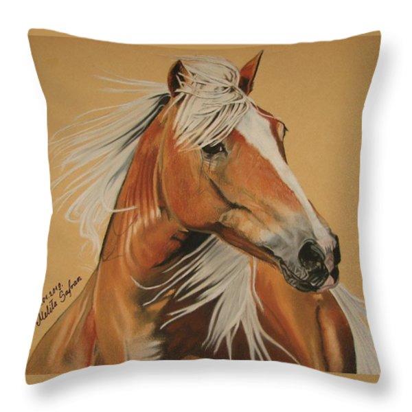 Haflinger  Throw Pillow by Melita Safran