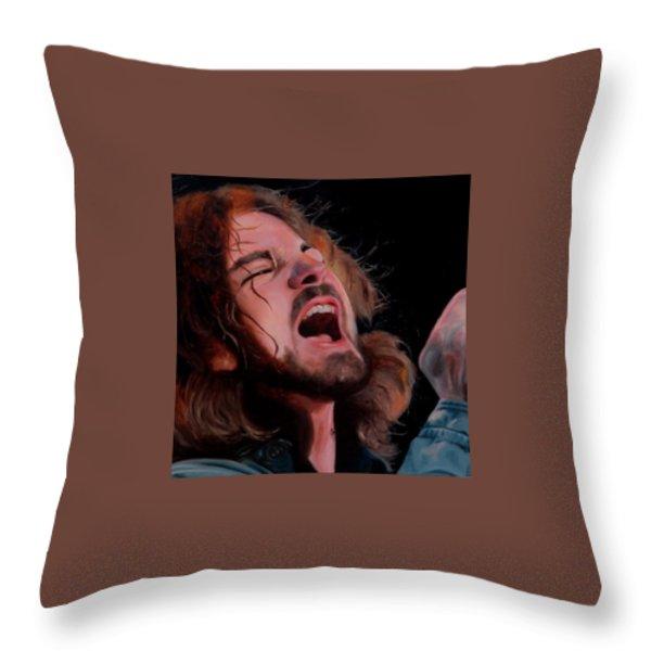 Hail Hail Throw Pillow by Jena Rockwood