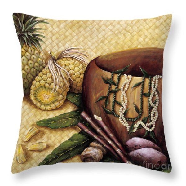 Hala Kahiki Throw Pillow by Sandra Blazel - Printscapes