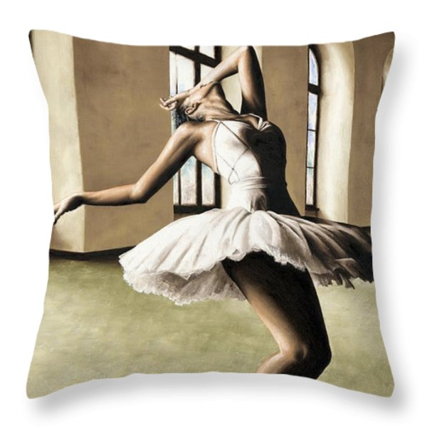 Halcyon Ballerina Throw Pillow by Richard Young