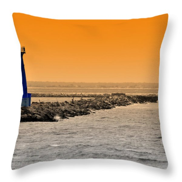 Hamels Throw Pillow by Trish Tritz