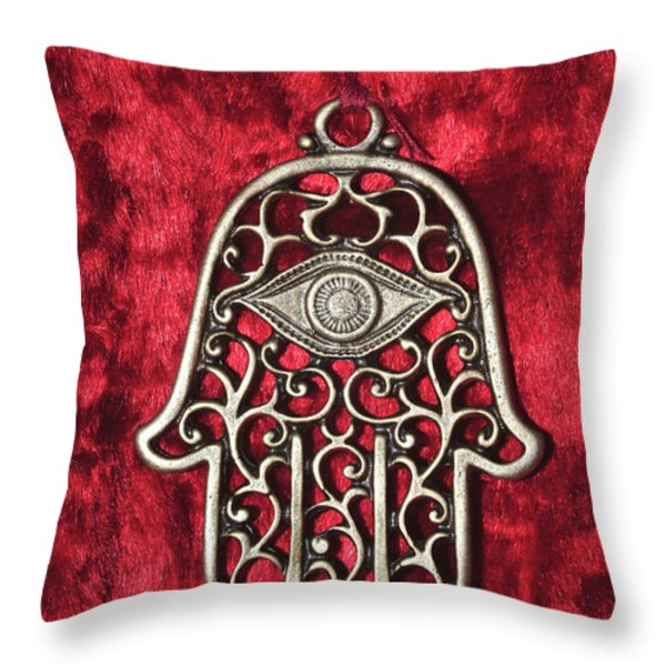 Hamsa  Throw Pillow by Shay Levy